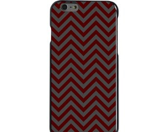 Hard Snap-On Case for Apple 5 5S SE 6 6S 7 Plus - CUSTOM Monogram - Any Colors - Texas A&M Aggies Colors - Gig 'Em - Chevron Pattern