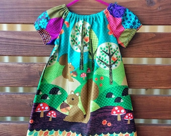 Girls Peasant Style Dress. Size 2. Nuts for Dinner.