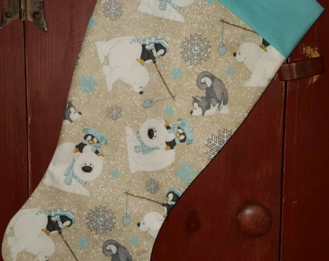 Polar Bear Christmas Stocking