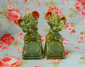 Midcentury Kitsch Mouse Salt & Pepper Shakers