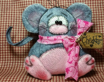 E-Pattern - Cheddar the Mouse Pattern #207 - Primitive Doll/Ornie E-Pattern