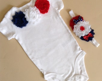 My First 4th of July, Baby Girl Onesie, Baby Girl Take Home Outfit