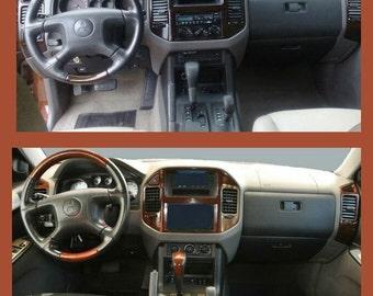 mitsubishi montero 2001 2002 2003 2004 2005 2006 premium wo sportronic transmis interior set wood aluminum carbon dash trim kit 21 pcs - Mitsubishi Montero 2001 Interior