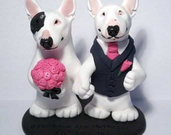 Wedding Toppers - Bull Terriers - by Peculiar Pals - please note there is a waiting list
