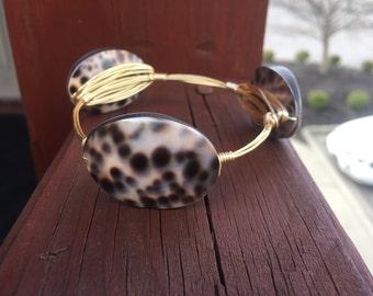 Tortoise Wire Bangle Bracelet