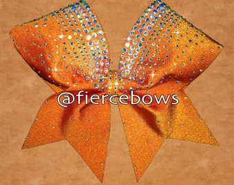 The Crowning Touch Rhinestone Bow in Orange