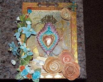 Sacred Heart Mixed Media Canvas