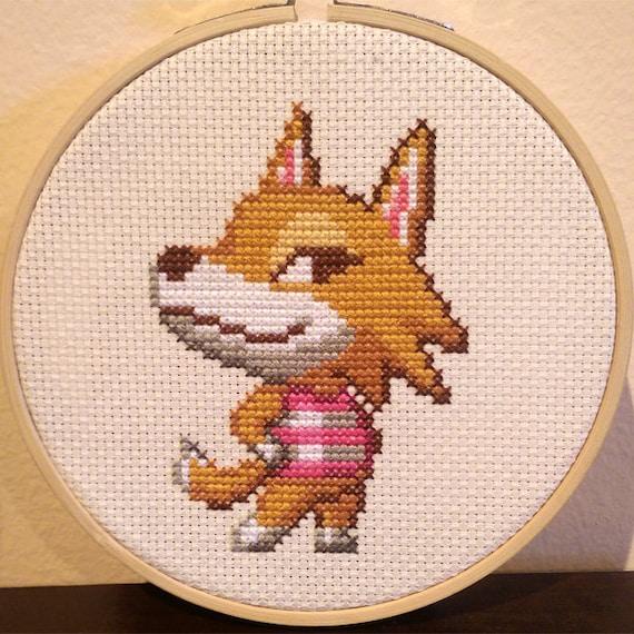 Animal crossing framed chief cross stitch