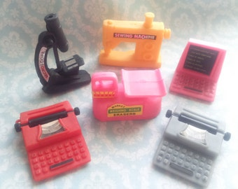 Lot 6 Vintage 1980s Erasers Machines