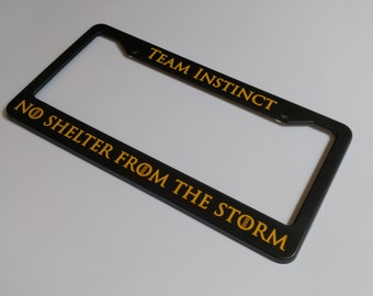 team instinct pokemon go inspired license plate frame free shipping