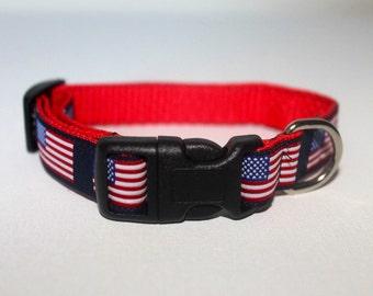 "American Flag Collar 5/8"" Wide"