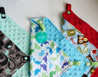 Flannel Paci-Patch | Pacifier Blanket | Security Blanket | Lovey | Minkey Blanket | Flannel Blanket | Pacifier Leash | Soft Blanket