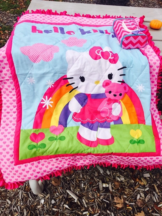 Hello Kitty Baby Gift Sets : Hello kitty hand made quilt and baby wipe by