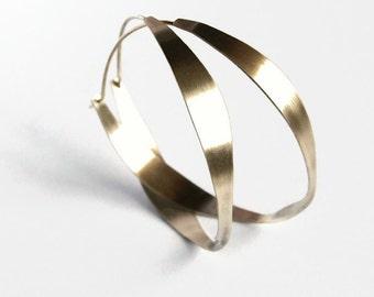 Large hoop earrings, silver hoops, sterling silver hoop earrings, 2 in silver hoops, lightweight silver hoops