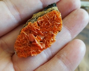 Wulfenite ~ 1 Reiki infused crystal cluster approx 41 x 21 x 19 mm (Wulf02)