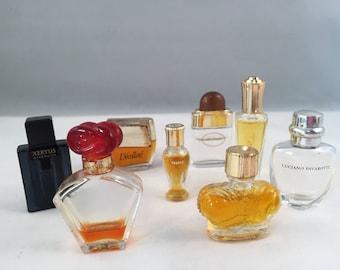 Miniature Perfume Bottle Collection, IL Bacio, Borbonese, Xeryus, Madame Rochas, Miss Dior, Wind Song, Luciano Pavarotti, De'collete'