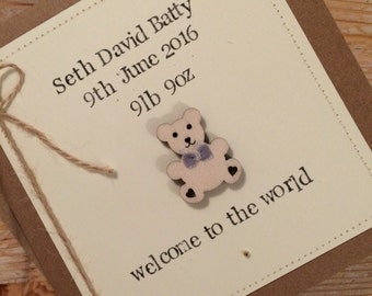 Welcome to world - new baby card *new baby*