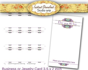 Printable Earring Cards, Business Cards, Jewelry Display, Custom Display Cards, Calling Cards, Craft Show Display