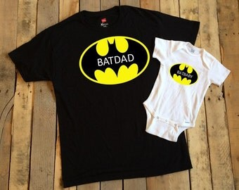 Father Son shirts - Father Daughter shirts - Batman - Batdad - Batbaby