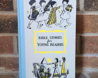 Vintage Childrens Book // Bible Stories for Young Readers // Antique Books
