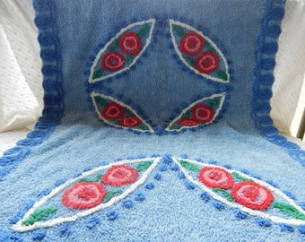 Sweetest Cotton bath or kitchen rug with Roses