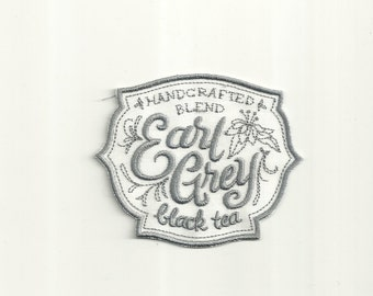 Earl Grey Tea Cafe Patch! Custom Made! AP58