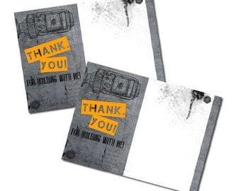 Printable Robot Thank You Cards, robot building
