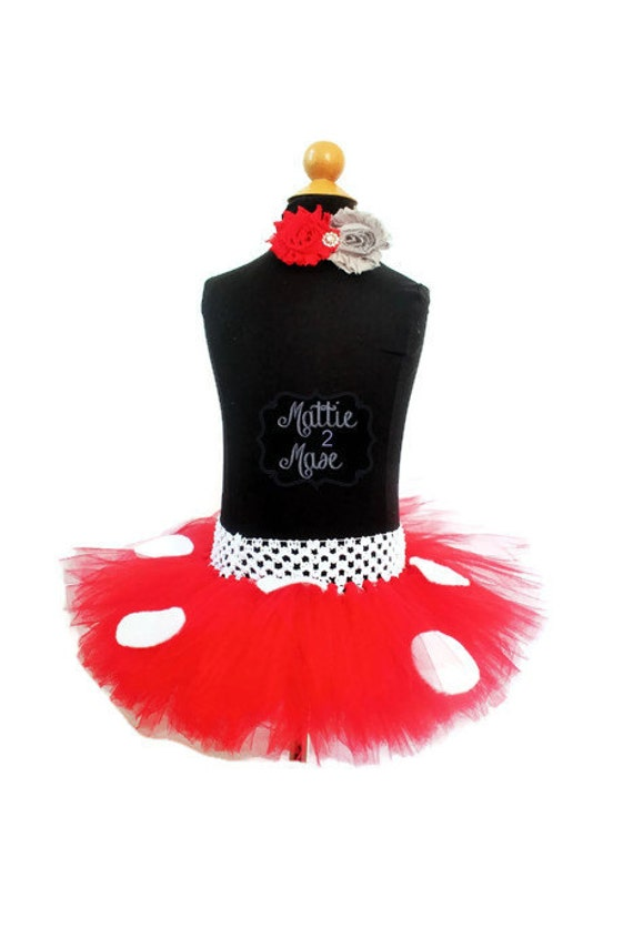 Items similar to Infant to Toddler Red Polka Dot Tutu and ...