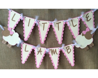 lamb baby shower banner, lamb baby shower, little lamb baby shower, lamb baby shower decorations, lamb baby, lamb baptism decorations