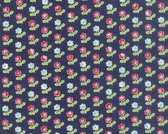 Moda Fabric - Vintage Picnic - Bonnie & Camille - Navy #55121-16