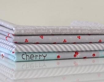 Sweet Orchard - Grey Colourway Fat Quarter Bundle - 4 Pieces