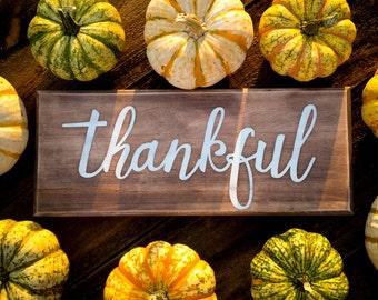 "Thankful (5.25"" x 13"")"