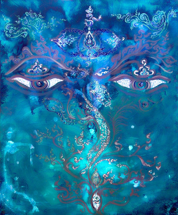 ShivaShambo-Ajna-Third Eye-Chakra - Original Painting on Canvas / energised-custommade-unique Artprint