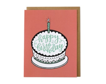Birthday Card, Happy Birthday Card, Birthday Cake Card, Birthday Cards, Card Birthday, Cards Birthday, Birthday Card Friend