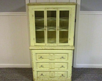 Antique Collectible NORTHERN INDIANA CABINET Early 1900's Primitive Shabby Chic