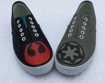 Star Wars Rebel Alliance and Imperial Empire shoes