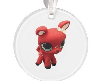 Pre-Order Custom Littlest Pet Shop Retro Deer Ornament