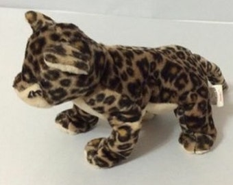 Retired soft plush stuffed leopard toy