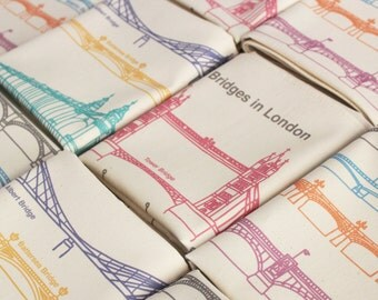 Bridges in London Tea Towel