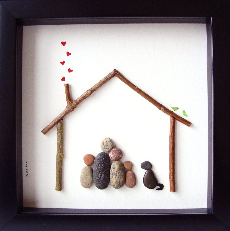 Pebble Art Family Unique Family Gift Custom Family by