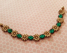 Tutorial Pattern For Beaded Sunflowers Daisy Chain Superduo Bracelet