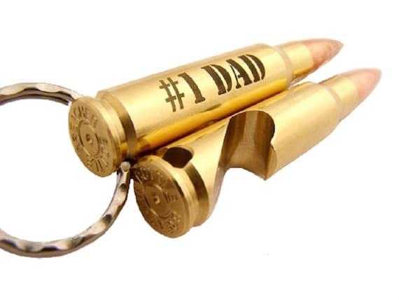 dad gift engraved key chain bullet by bottlebreacher. Black Bedroom Furniture Sets. Home Design Ideas