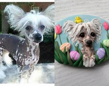 Order YOUR DOG Easter Pin OR Magnet by Raquel at theWrc Pets hand sculpted polymer clay Pet Brooch or fun Magnet