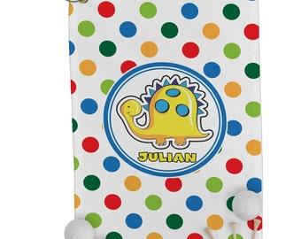 Dots & Dinosaur Golf Towel (Personalized)