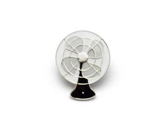 Vintage Electric Fan Enamel Pin (Black)