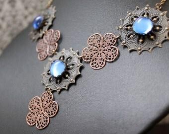 Medieval/Tudor Collier, necklace - Royal Blue