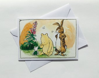 Winnie the Pooh - Disney Stitched Greeting Card and Envelope - Medium - Blank