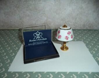 1:12 scale Dollhouse Miniature Reutter Porzellan Lamp
