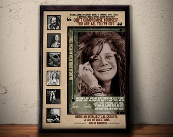 JANIS JOPLIN Quote Lyrics Art Print Poster * Forever 27 Club *  Retro Vintage Wall Decortation * A1 A2 A3 A4 Sizes Available