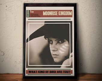 MOONRISE KINGDOM Alternative Movie Poster * What Kind Of Bird Are You Quote Print * Kara Hayward QuoteArt Print A1 A2 A3 A4 Sizes Available